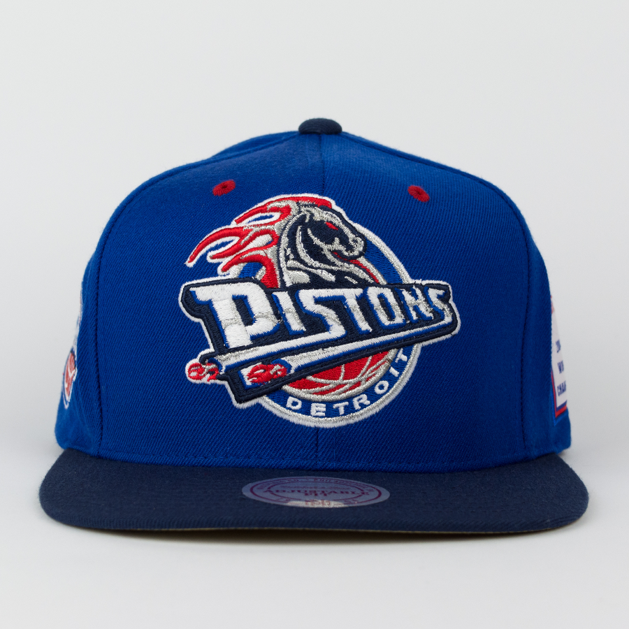 mitchell and ness detroit pistons snapback championship. Black Bedroom Furniture Sets. Home Design Ideas