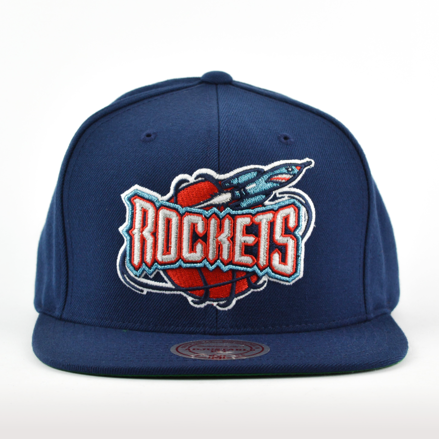 Houston Rockets Mitchell And Ness: Mitchell And Ness Snapback Wool Solid Houston Rockets Navy