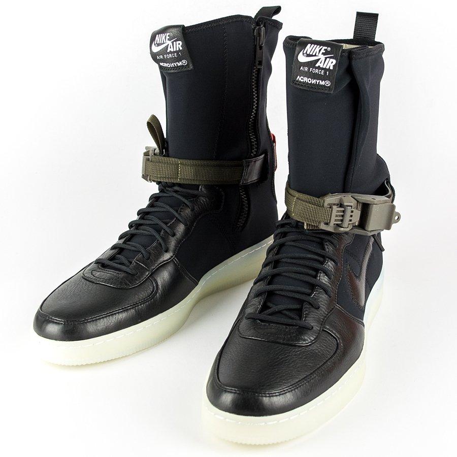 fe70be86f67ffd Acronym Air Force Downtown 1 Hi SP black black - bright crimson ( Acronym x  Nikelab ...