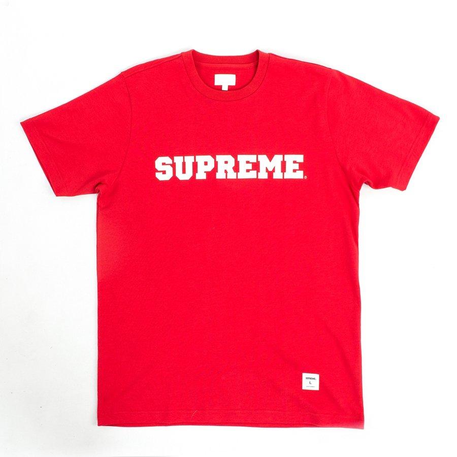 Supreme T-shirt Logo Red | T-Shirts  T-Shirts *Women  T ...