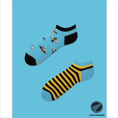 Many Mornings skarpety Bee Bee Low blue / yellow