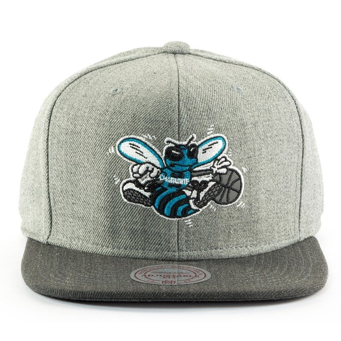Czapka Mitchell and Ness snapback Heather Reflective Charlotte Hornets grey / charcoal