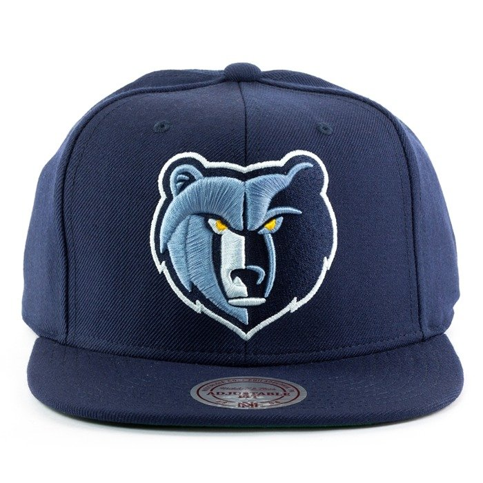 Czapka Mitchell and Ness snapback Wool Solid Memphis Grizzlies navy
