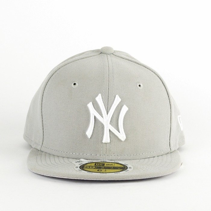 Czapka dziecięca New Era fitted New York Yankees Basic grey K 59FIFTY
