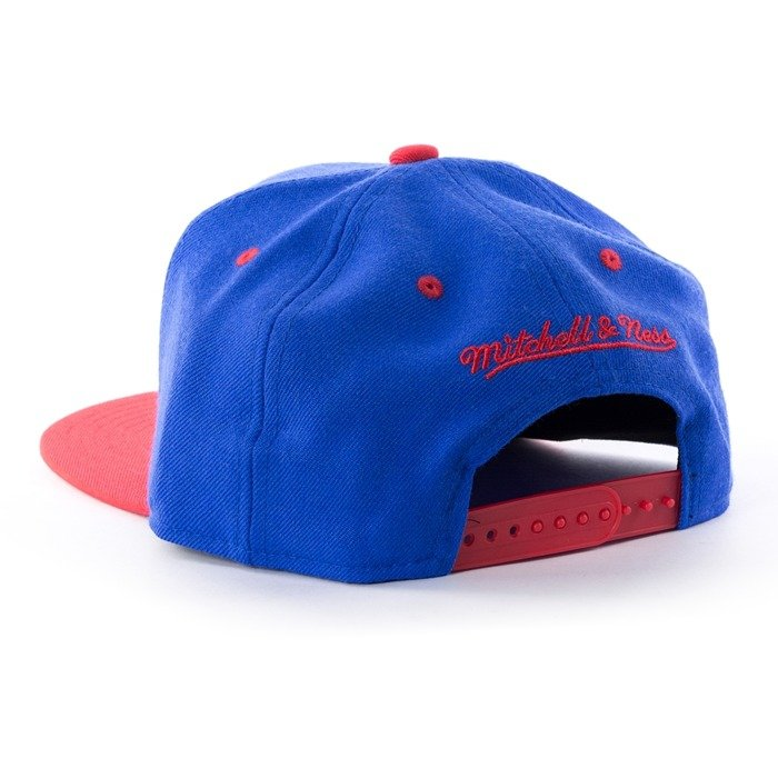 Czapka z daszkiem Mitchell and Ness snapback Team Arch Detroit Pistons royal
