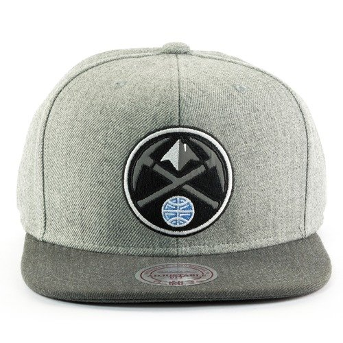 Czapka Mitchell and Ness snapback Heather Reflective Denver Nuggets grey / charcoal