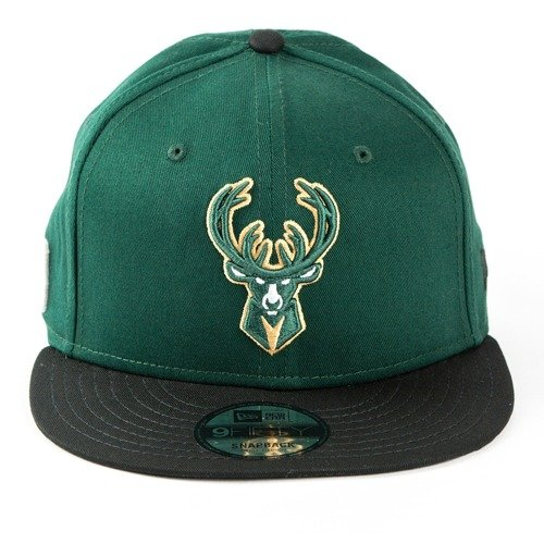 Czapka New Era snapback Milwaukee Bucks NBA Team 9fifty green / black