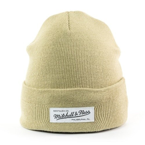 Czapka zimowa Mitchell and Ness Nostalgia Cuff Knit sand