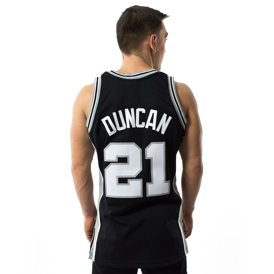b6d0f7755 Mitchell and Ness Swingman Jersey HWC San Antonio Spurs Tim Duncan black  Click to zoom ...