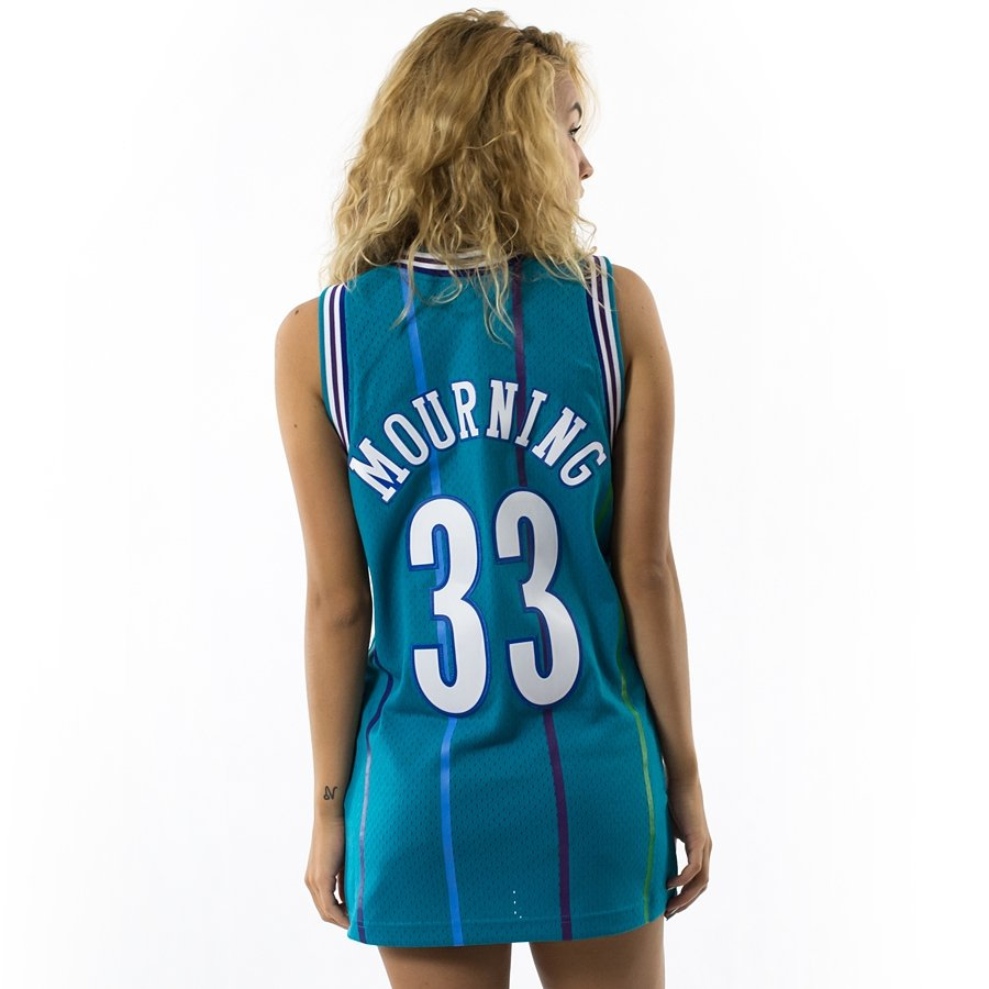 quality design fedde 8796b Mitchell and Ness Swingman Jersey HWC Charlotte Hornets Alonzo Mourning blue