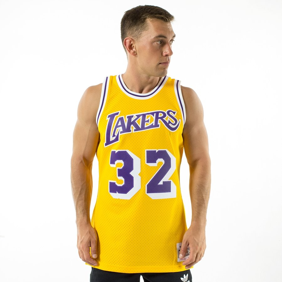 ab403182278 Click to zoom; Mitchell and Ness Swingman Jersey HWC Los Angeles Lakers  Magic Johnson ...