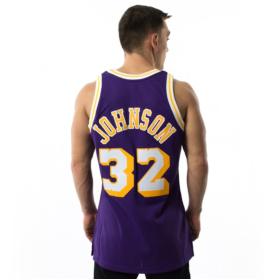 72f08139b Mitchell and Ness Swingman Jersey HWC Los Angeles Lakers Magic Johnson navy  Click to zoom ...