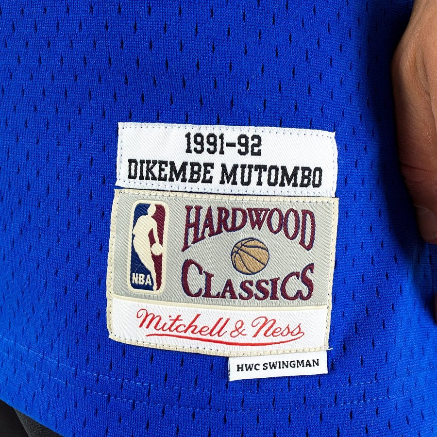 ... Jersey HWC Denver Nuggets Dikembe Mutombo 1991-92 royal Click to zoom  ... 72046463a