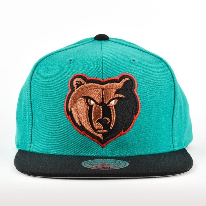 64a5e72b Mitchell and Ness snapback Current Throwback Memphis Grizzlies teal / black