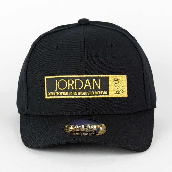 7229a17473464e Air Jordan OVO dad cap black   gold (872840‌-‌010) TM