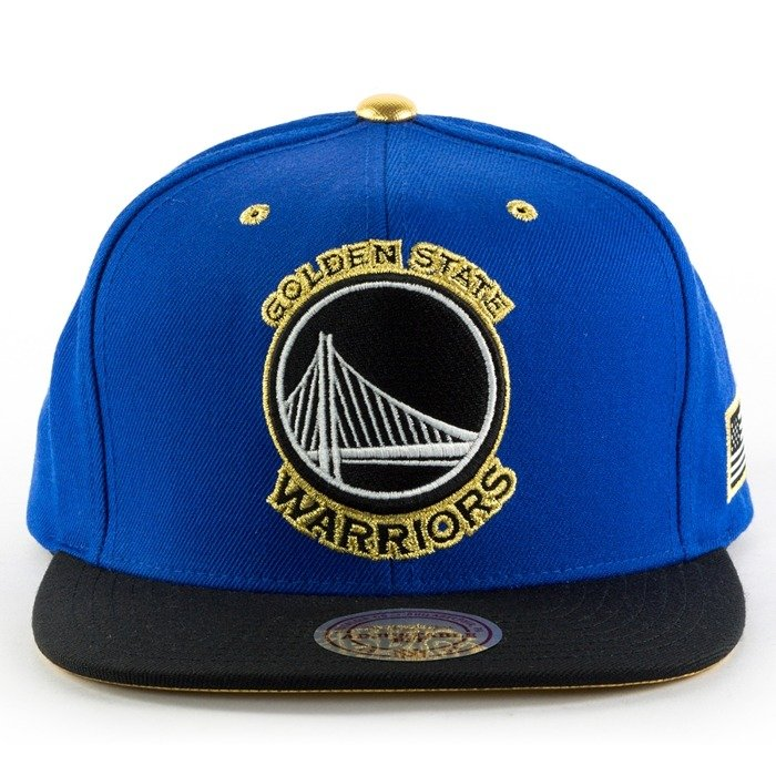 finest selection b1716 83e87 Mitchell and Ness snapback Gold Tip Golden State Warriors royal   black   gold  Golden State Warriors   Caps   Snapbacks NBA   Golden State Warriors Brand  ...