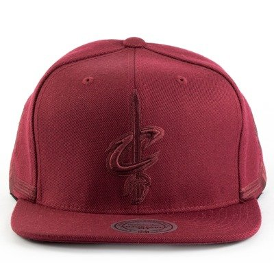 hot sale online 175de 9aaeb Mitchell and Ness snapback Tonal Short Hook Cleveland Cavaliers burgundy