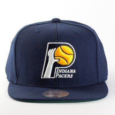 ab958ae024d156 ... wholesale mitchell and ness snapback wool solid indiana pacers navy  c9f19 5a358