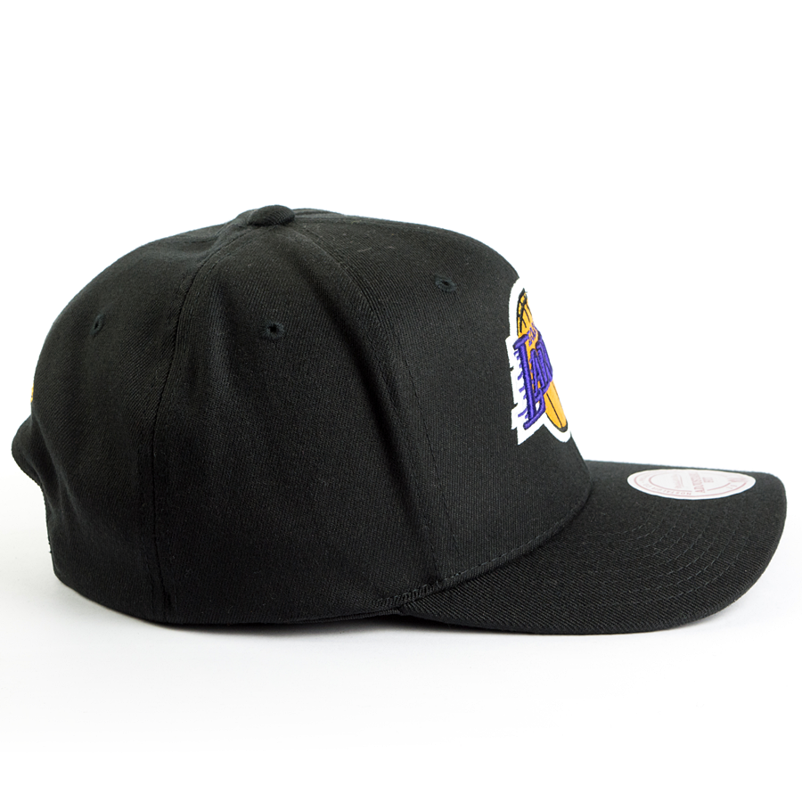 Black Los Angeles Lakers Mitchell /& Ness NBA Team High Crown Snapback Hat