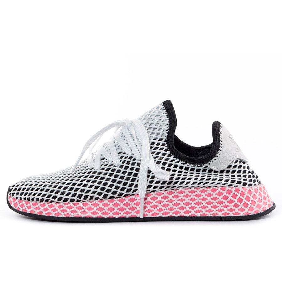 pretty nice f9530 063aa ... Adidas Originals Deerupt Runner black  core black  chalk pink (CQ2909)  Click to zoom ...