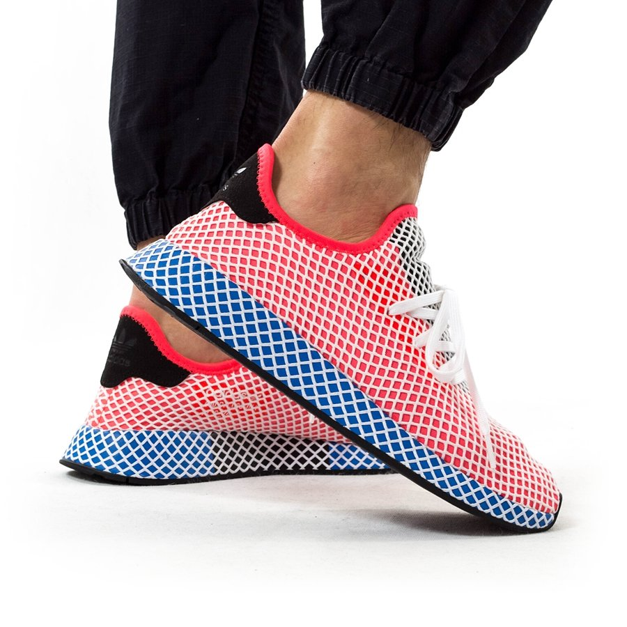 premium selection f5578 79cda Adidas Originals Deerupt Runner solar red  solar red  bluebird (CQ2624)  40 Click to zoom ...
