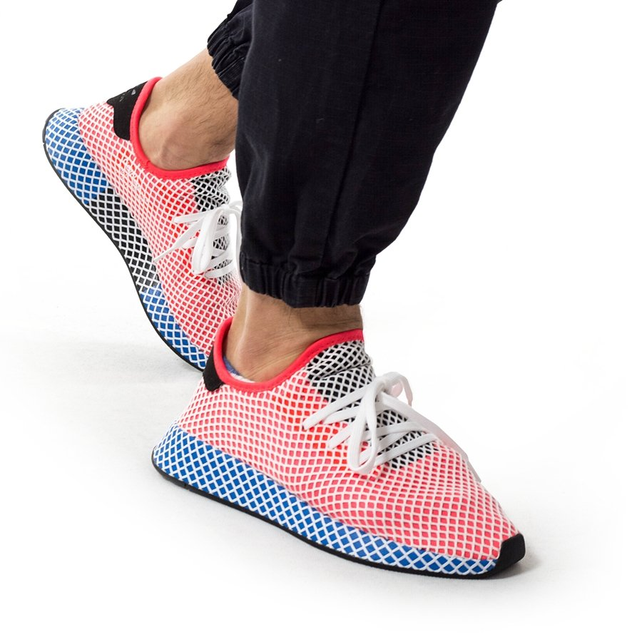 sneakers for cheap c230a 627f1 ... Adidas Originals Deerupt Runner solar red  solar red  bluebird  (CQ2624) 40 Click to zoom ...