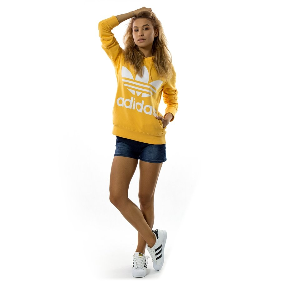 Bluza damska Adidas Originals sweatshirt Trefoil Hoodie chaorange (DH3138)