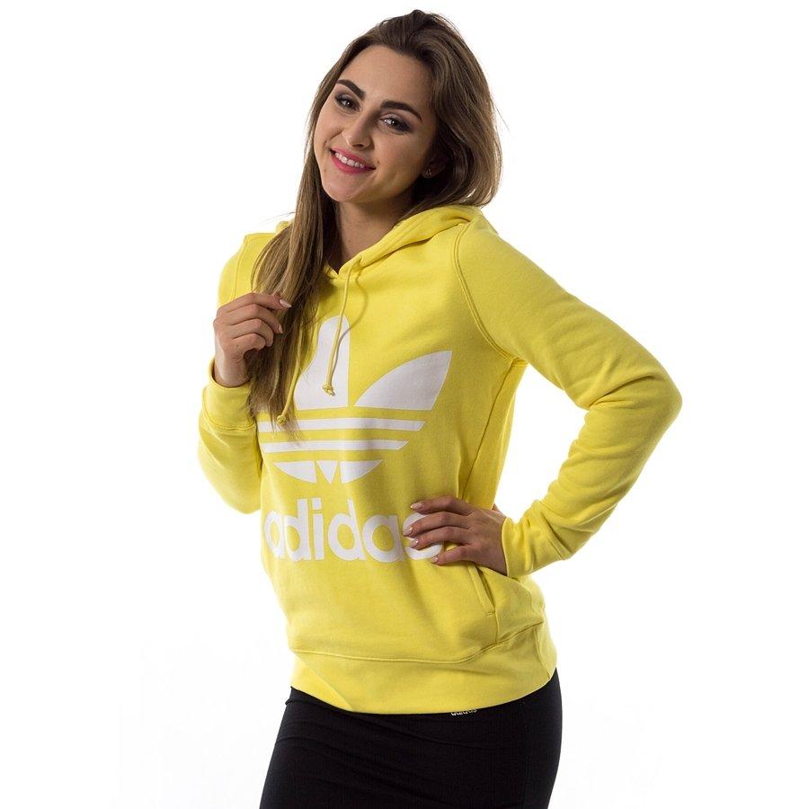 Adidas originali felpa trifoglio felpa intenso lemon (ce2413