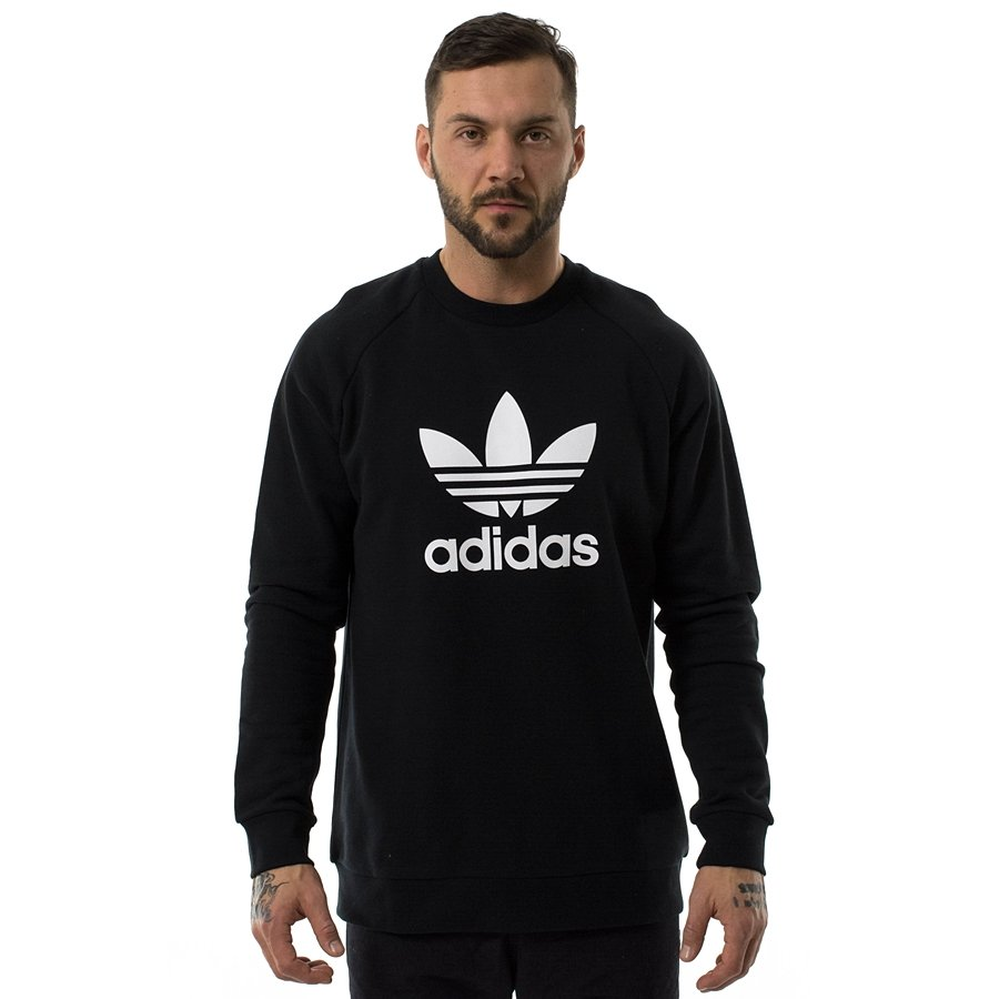 Adidas Originals sweatshirt crewneck Trefoil black (CW1235)