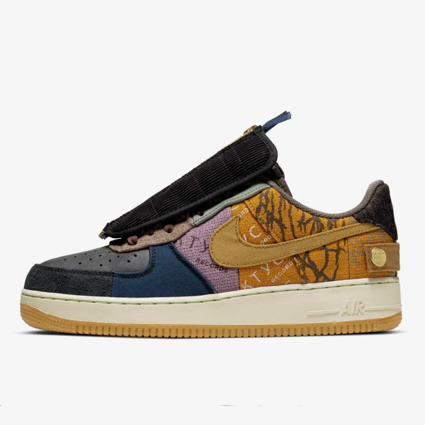 Cheap Supreme x The North Face x Nike Air Force 1 Low Yellow