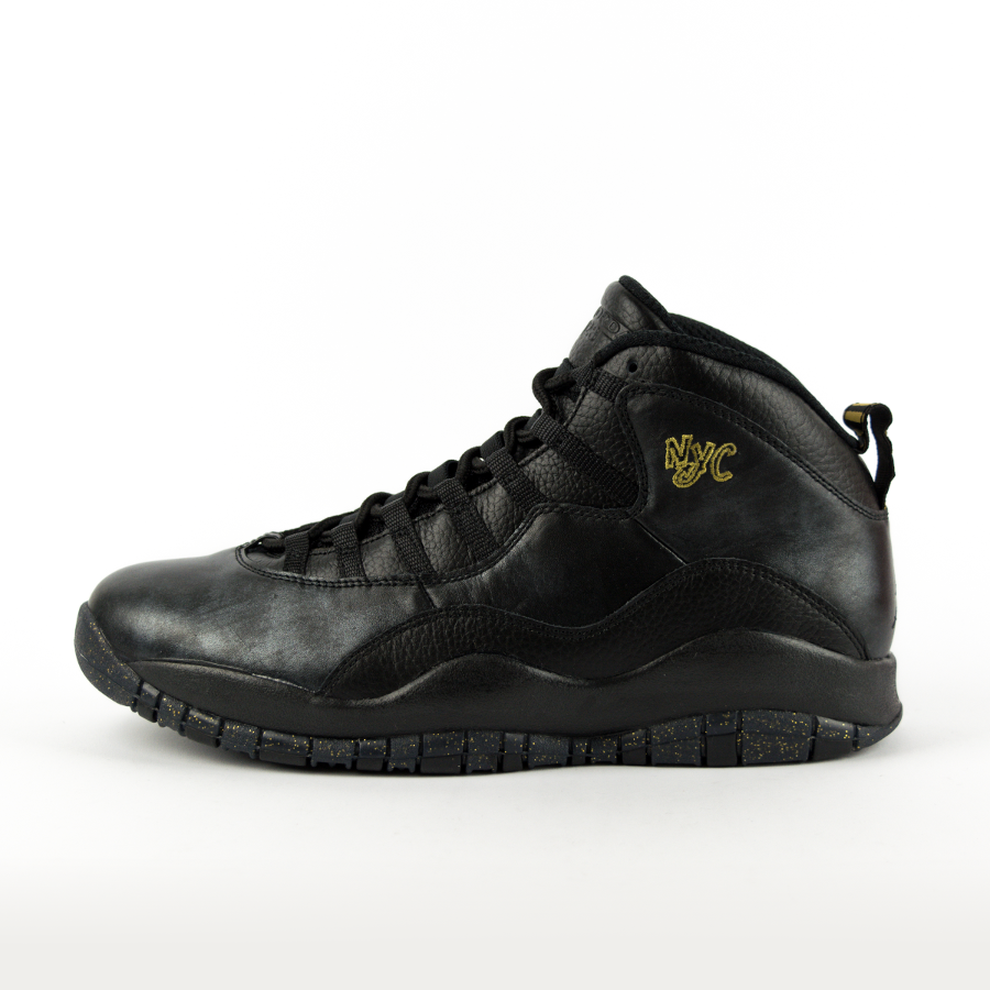 competitive price 63a65 02a07 Air Jordan 10 Retro NYC Black   Black-Dark Grey   Metallic Gold (310805  Click to zoom ...