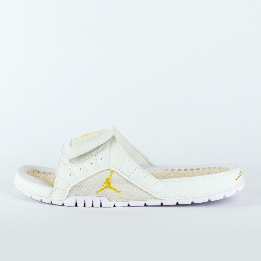 ee2866606bf52e Air Jordan 12 Hydro Slides OVO Retro white   gold (873907-102) TM ...