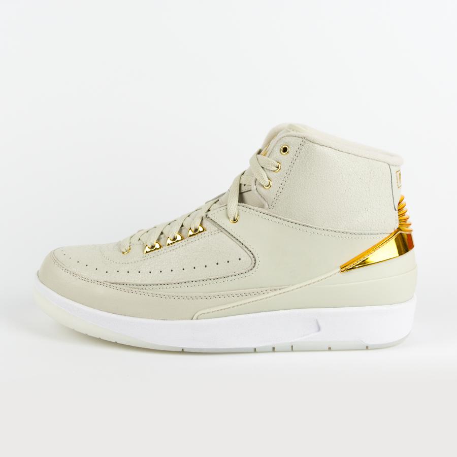 e60ae9e36b73 Air Jordan 2 Quai 54 Light Bone   Metallic Gold-White (866035-001 Click to  zoom ...