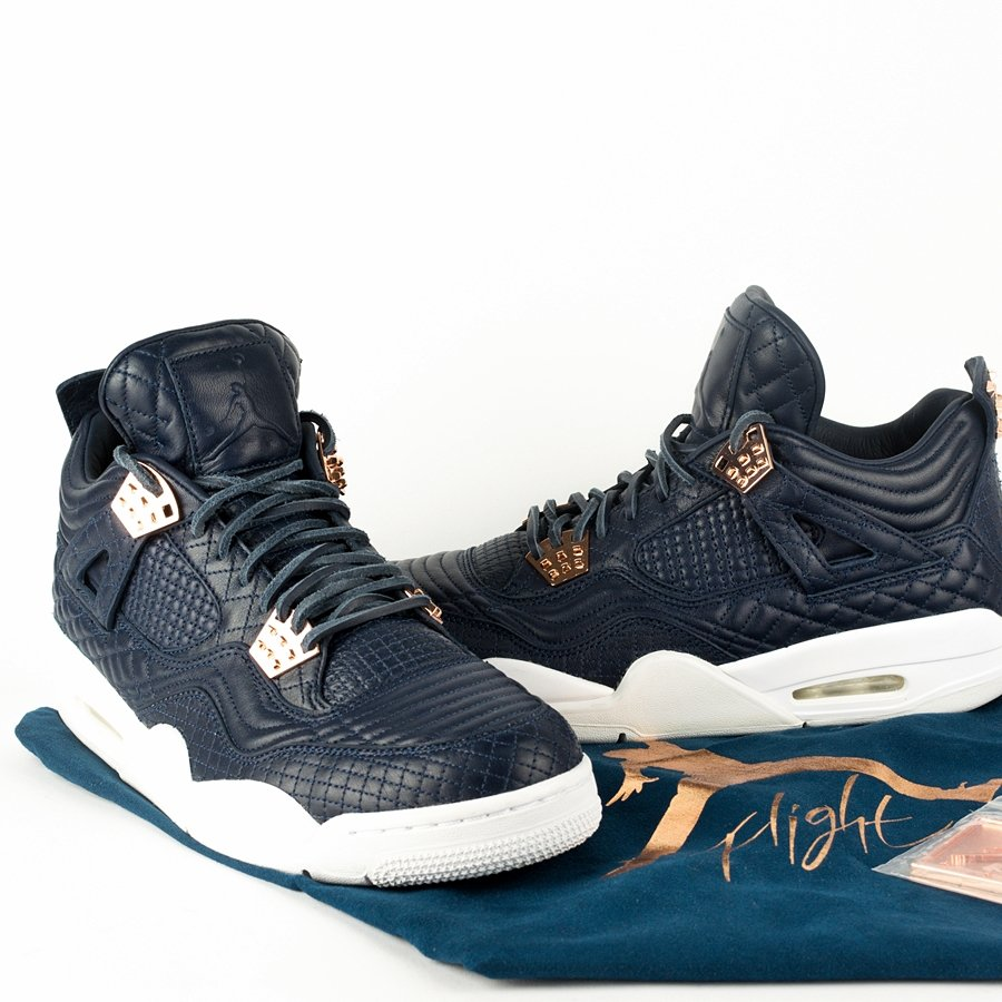"Air Jordan 4 Premium ""Pinnacle"" Obsidian / Obsidian-White (819139-402) 