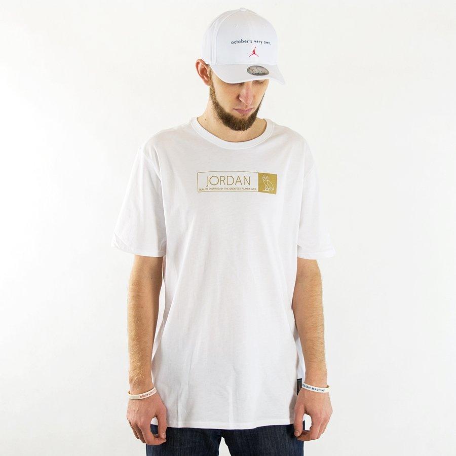 sports shoes ca9f6 bc949 Air Jordan t-shirt OVO white   gold (872834-100) Click to zoom ...