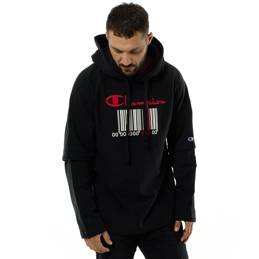7b4c77e47e7e Champion hoody Reverse Weave Barcode black (111072 F18 KK001) Click to zoom  ...