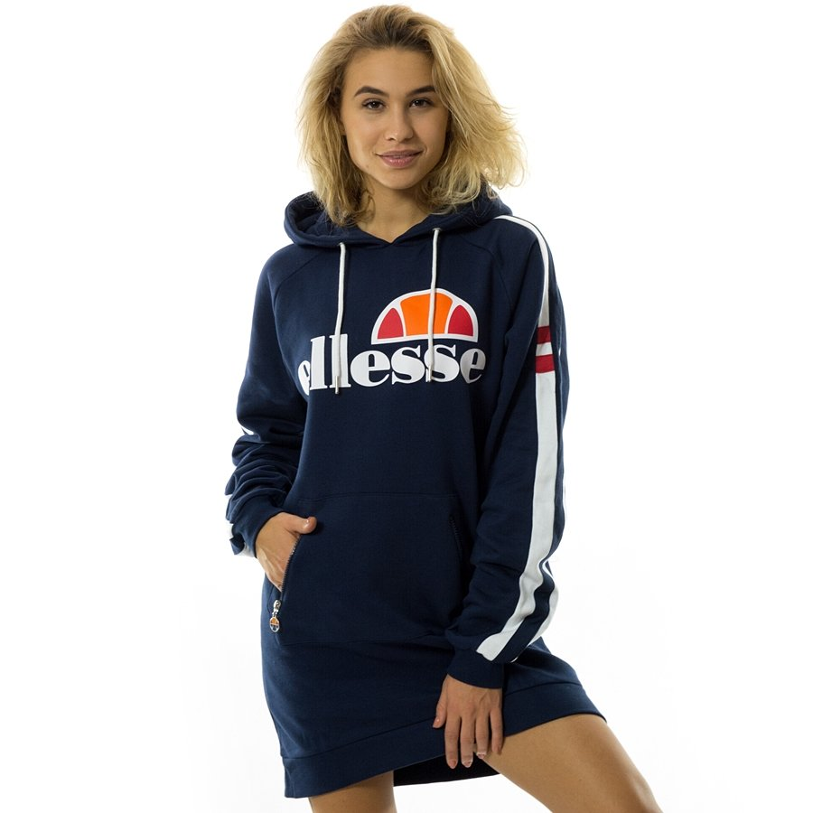 05da0882 Ellesse sweatshirt Claviere Long Hoody dress blues | Sweatshirts ...