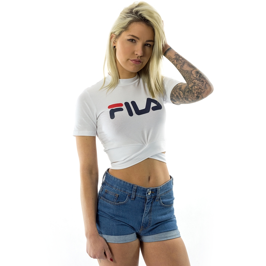 Fila t shirt Roxy Belted Turtle Neck Top bright white