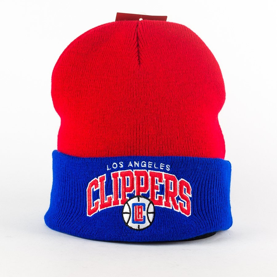 4b07477551a Mitchell and Ness Arched Cuff Knit Los Angeles Clippers red   blue Click to  zoom ...