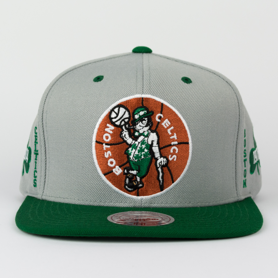 Click to zoom · Mitchell and Ness Boston Celtics snapback Championship Pack  2 Titles grey   green ... c9e61b7c3ad