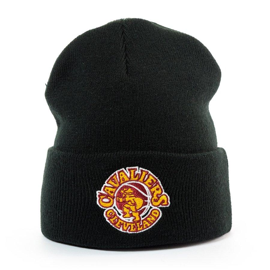 88969d82ed60db ... nba high 5 cuffed pom knit fb46d fc641; sale mitchell and ness logo cuff  knit cleveland cavaliers black click to zoom db32f 56a70