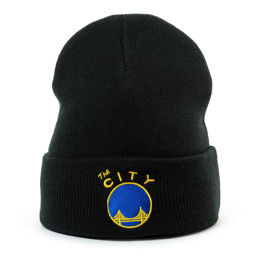c73cb6da765 Mitchell and Ness Logo Cuff Knit Golden State Warriors black Click to zoom  ...