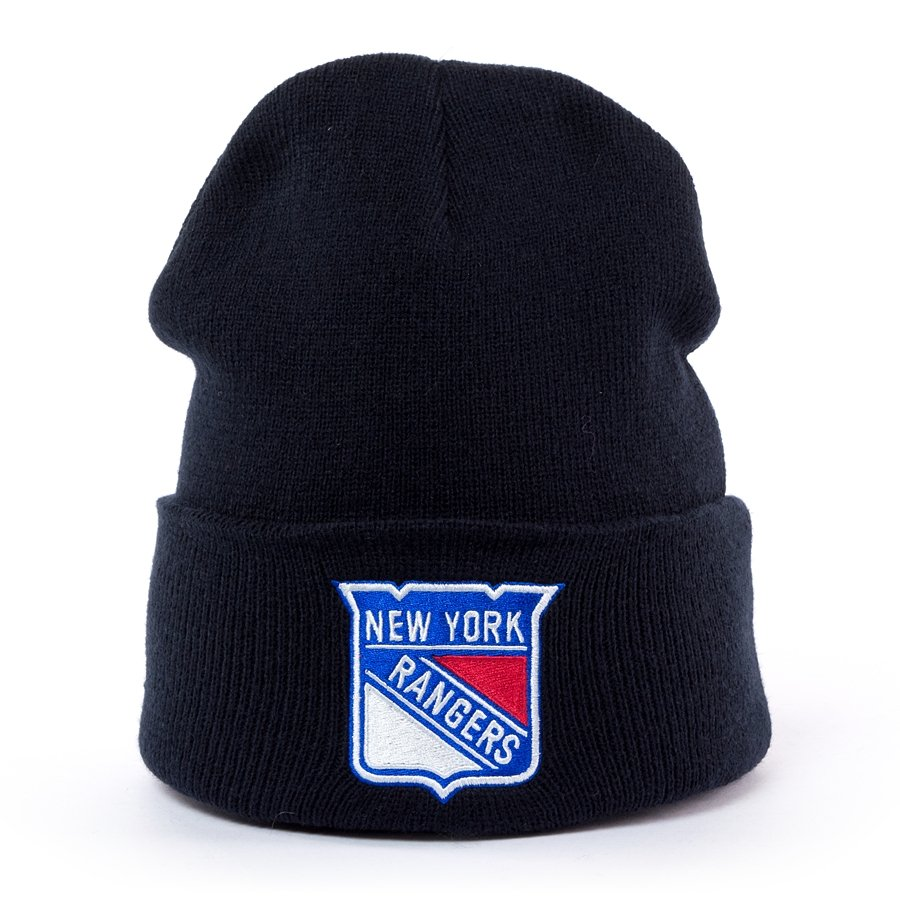 87cac6642f0 Mitchell and Ness Logo Cuff Knit New York Rangers navy Click to zoom ...