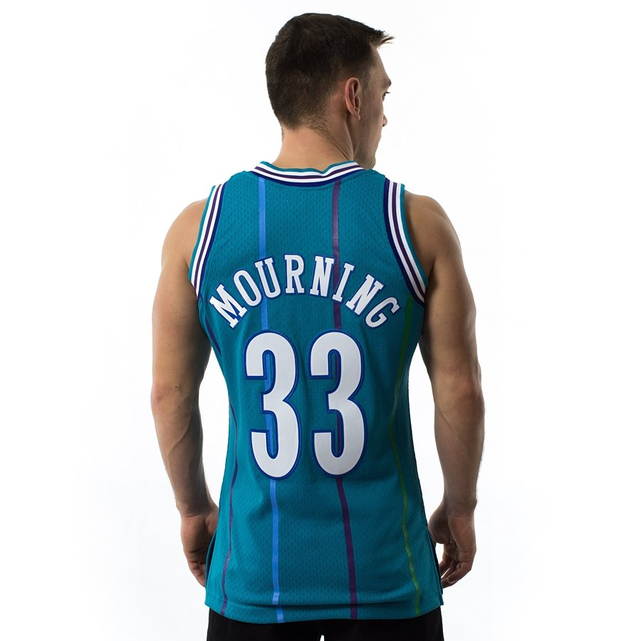 e6f2bd006d1 Click to zoom  Mitchell and Ness Swingman Jersey HWC Charlotte Hornets  Alonzo Mourning blue