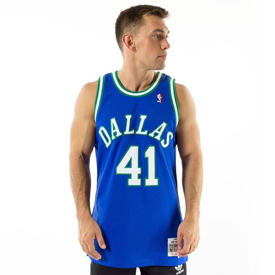 605b6c8dd Click to zoom  Mitchell and Ness Swingman Jersey HWC Dallas Mavericks Dirk  Nowitzki 1998-99 blue