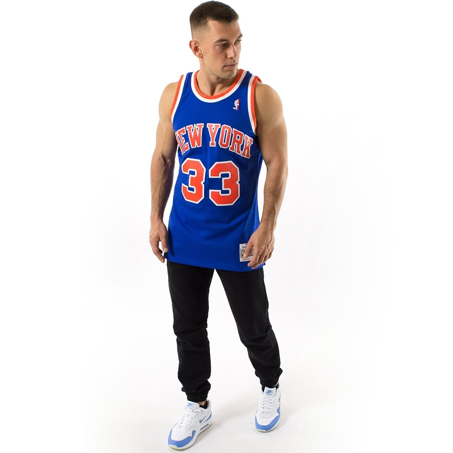 check out 2af92 6a9d5 Mitchell and Ness Swingman Jersey HWC New York Knicks Patrick Ewing 1991-92  blue
