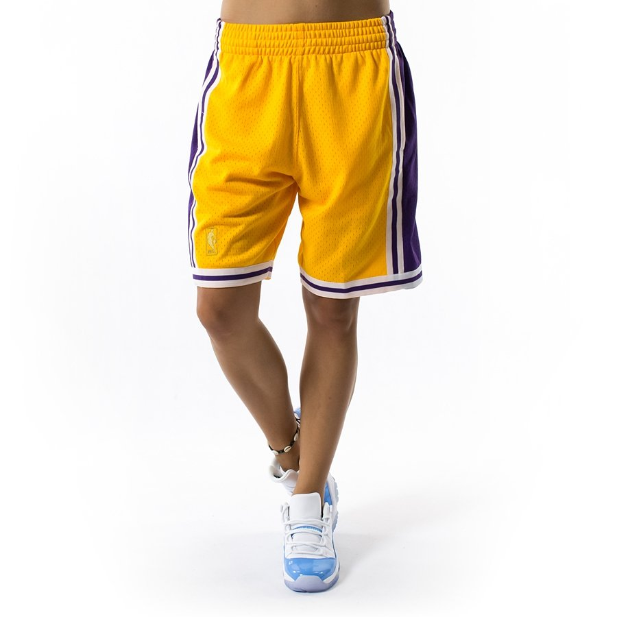 08d0e02f238e Mitchell and Ness Swingman Shorts Los Angeles Lakers yellow Click to zoom  ...