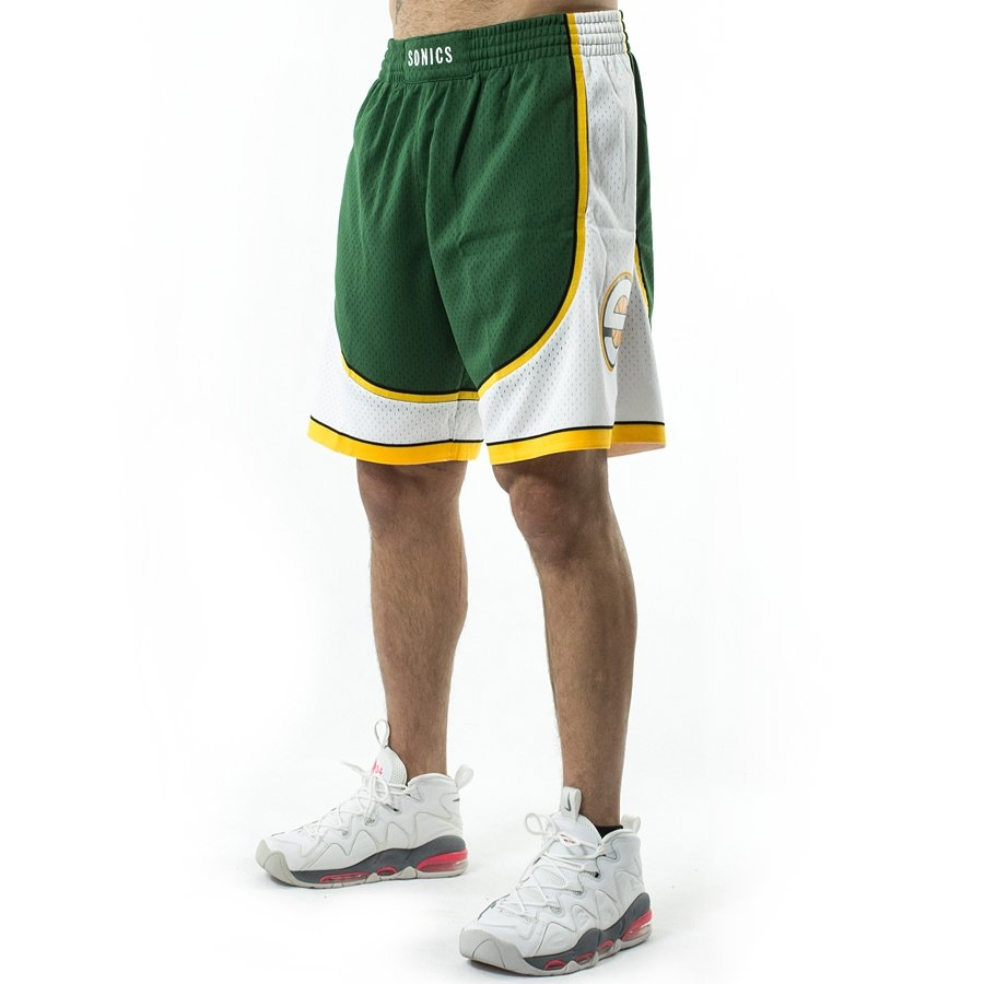 d3423bada82 Mitchell and Ness Swingman Shorts Seattle SuperSonics 2007-08 green Click  to zoom ...