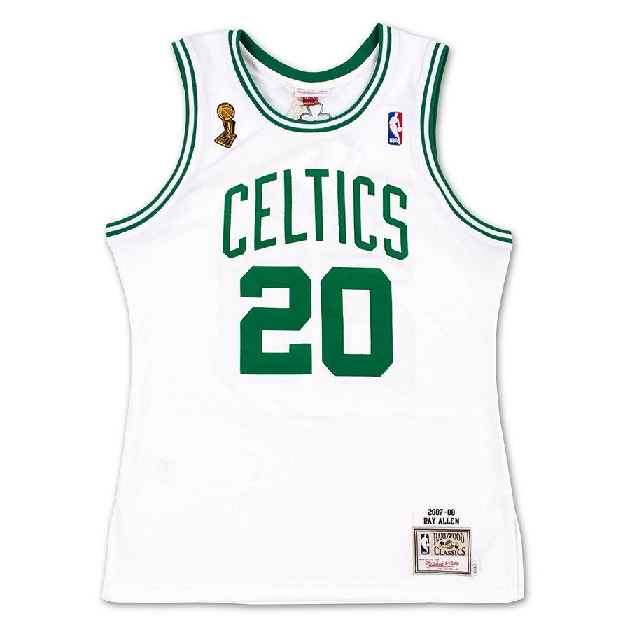pretty nice 56a3c 9caab Mitchell and Ness authentic jersey HWC Boston Celtics Ray Allen 2007-08  white