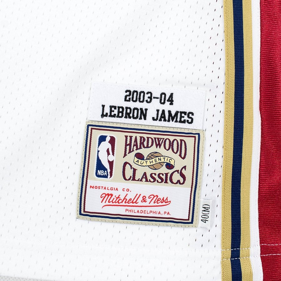 8461b0bc9811 ... Mitchell and Ness authentic jersey HWC Cleveland Cavaliers Lebron James  2003-04 white Click to zoom ...